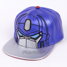 Cool Fashion Optimus Prime PU Leather Snapback Cap Baseball Hat Men Boy Casual Bboy Hip Hop Caps(China)