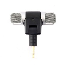 Hot 1pc New Mini Stereo Microphone Mic 3.5mm Mini Jack PC Laptop Notebook for recording
