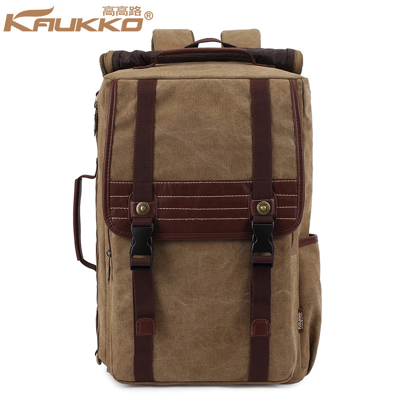 High Quality  Man Travel Shoulder Bags KAUKKO Casual Canvas Men Backpack Retro Vintage Students School Bags Unisex items<br><br>Aliexpress