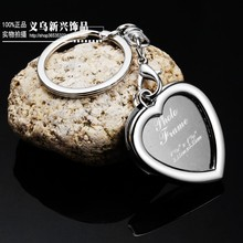 Photo frame keychain key ring key chain of love personality small gift memorial logo(China)