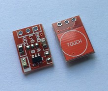 50PCS/LOT NEW TTP223 Touch button Module Capacitor type Single Channel Self Locking Touch switch sensor RED