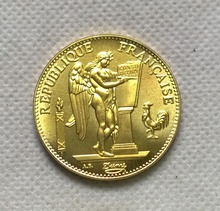 1909 A France Liberte Egalite Fraternite 100 Francs Gold Brass Metal COPY FREE SHIPPING(China)