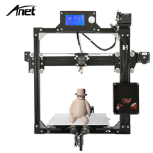 Anet A2 3D Printer DIY Prusa i3 Aluminum Metal 3D Printer Kit 220*220*220/220*270*220mm LCD 2004/12864 Option with 10M Filament