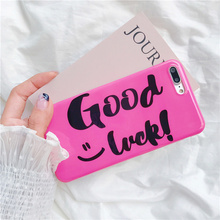 Good Luck TPU Phone cases For iPhone 6 6plus Glossy soft TPU case for iphone 6s 7 7plus phone back cover