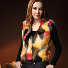 New Balaam pull femme hiver Fur supply short, imitation fur, colorful fox fur sweater jumpers women's fashion news women sweater(China)