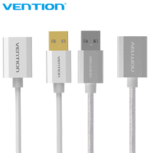 Vention USB2.0 Extension Cable Metal Male to Female High Speed USB Cable Extension For PC Keyboard Printer Mouse Computer Cable(China)
