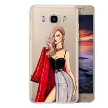 Fashion beautiful sexy girls Case cover transparent hard plastic shell to protect samsung Galaxy condom A3 A5 A7 J1 J5 J7 2016(China)