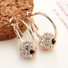 2017 New Fashion Austrian Crystal Gold  Earrings High Quality Earrings For Woman Wedding Jewelry Boucle D'oreille Femme