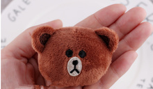 CUTE Little 5CM Brown Bear Plush Stuffed TOY Doll ,  Mini Plush Stuffed Bear doll hair band tie accessories Plush Toys
