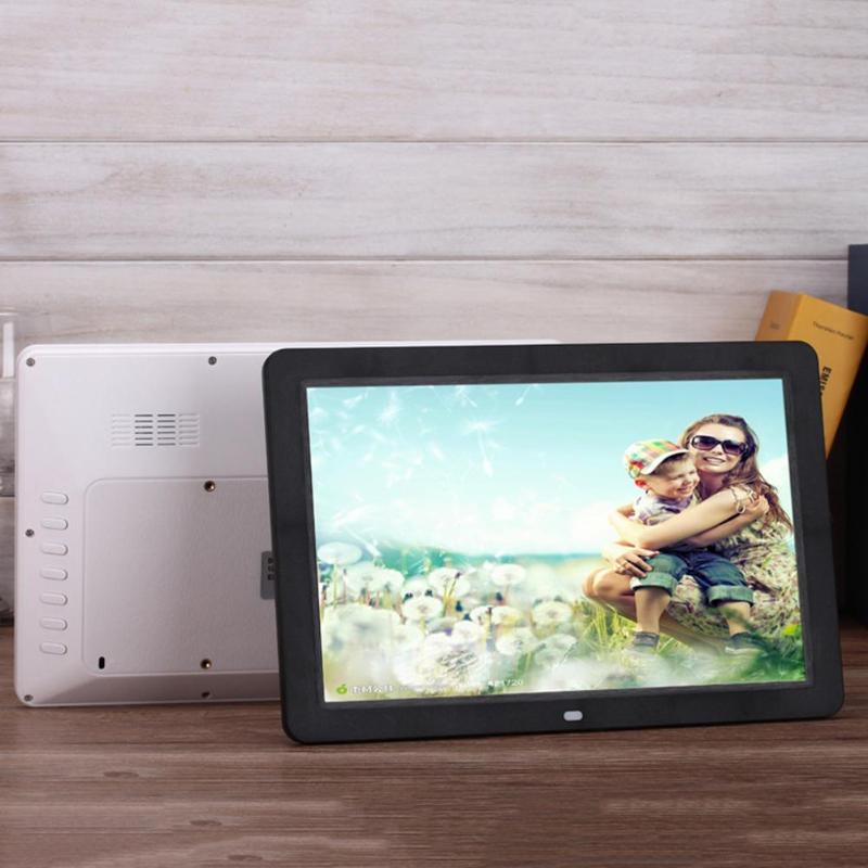 ALLOYSEED 12 Inch Digital Photo Frame 1280X00 HD LED Video Display Electronic Album Picture USB MP3 Music Player Clock Calendar 22