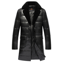Buy Leather sheepskin coat men genuine leather jacket fur collar hood long design free for $329.45 in AliExpress store