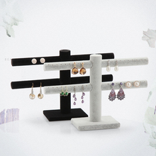 Wholesale Double layer  earrings Jewelry Displays double layer velvet earrings holder 40 booths 2 pieces/lot