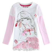 Buy retail fashion baby girl t shirt long sleeve kids t shirts girls clothes Novatx kids brand 2017 new year children clothing for $6.22 in AliExpress store