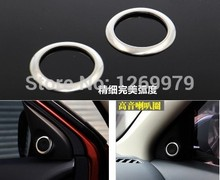 For 2013 2014 2015 Mitsubishi ASX RAR interior stainless steel audio speaker decoration trim cover ring car accessories