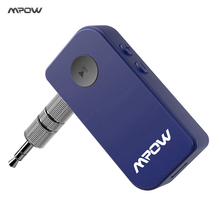 Original MPOW Steamboat Mini Wireless Bluetooth Receiver Adapter Audio Streaming Stereo Music w/ 3.5mm AUX Hand Free Calling(China)