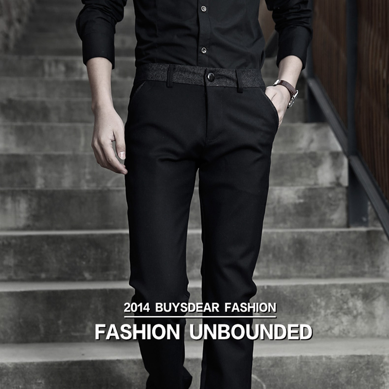 Spring And Autumn Male Casual Dress Pants Regular Skinny Men Suit Pants Commercial Western-Style Business Men Pants