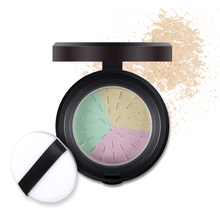 Brand Face Makeup 3 Colors Mineral Loose Powder Skin Matte Finish Studio Fix Base Make Up Long Lasting Setting Powder with Puff(China)