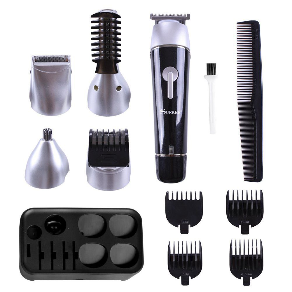 5 in 1 Hair Clipper Rechargeable Cordless Grooming Kit for Men Beard Trimmer Nose Hair Trimmer Dual Shaver<br>