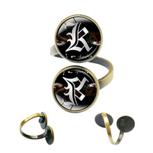 Japan Anime Death Note Rings Letter L Lawliet Kira Jewelry Rings for Women Double Yagami Jewelry Double Sided Gothic Jewellery