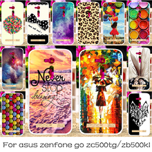 DIY Silicon OR Plastic Mobile Phone Case Cover For ASUS ZenFone Go ZB500KL/ZC500TG GoZ00VD Shield Back Covers Shell Housing Hood