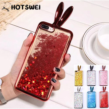 Buy HOTSWEI Case iPhone 6S Plus Fashion Dynamic Liquid Glitter Bling 3D Rabbit Ears Clear Soft TPU Case iPhone 6 6s Plus for $4.18 in AliExpress store