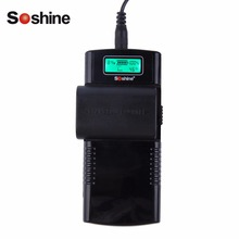 Soshine Universal Intelligent Digital LCD Display wall Battery Charger for Li-Ion batteries 3.7V/7.4V Polarity Auto Detection