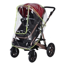 Universal big baby stroller accessory full cover Baby carriages rain cover good quality cheap price baby rain coat car-covers(China)