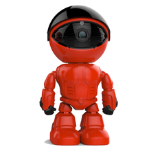 New-Designed Red Robot style PTZ control HD 960P home security ip network baby surveillance intelligent security Robot camera