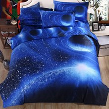 Hot Selling Home Hextile Duvet Cover Starry Sky Bedding Sets Soft Sheet Bed Sets Single Double Twin Size 8 Colors