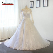 New Model Off The Shoulder Sleeves Lace Beading A-line Wedding Dress Bridal Dresses