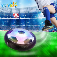 VICIVIYA Kids Levitate Suspending Football Light-up Toy Colorful LED Hover Ball Indoor Soft Floating Foam Football Soccer Toys(China)