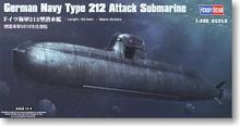 Hobby Boss 1/350 scale models 83527 German Navy U212 conventional attack submarine