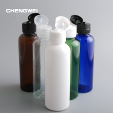 CHENGWEI Wholesale 100ml PET Plastic Empty Packaging Containers Flip Top Cap Bottle Lotion Perfume Refillable 10 Pcs/Lot(China)
