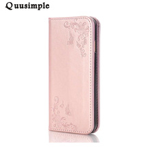Multifunction Wallet Leather Case for iphone 7 plus Butterfly Rose Embossed Flip Cover Card Slot Handbag Cases for iphone 6 6S 5