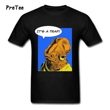 Admiral Ackbar's Appraisal Male T Shirt Pure Cotton Short Sleeve Round Neck Tshirt Man's Teeshirt 2017 Modern T-shirt For Teens
