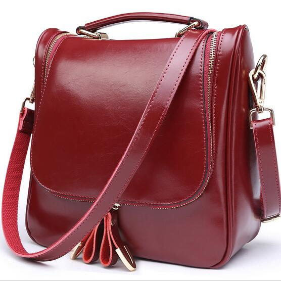 Top Design Women Messenger Bags Backpack Fashion Creative Bag Real Genuine Leather Handbag Women Shoulder Bags <br><br>Aliexpress