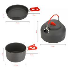 Cookware ALOCS CW-S03 2-3 People Aluminum Ultralight Outdoor Non-Stick Camping Hiking Backpacking Cooking Picnic Cookware Pan(China)