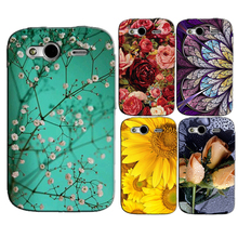 for HTC Wildfire S G13 A510e Original Phone Case Printed Back Cover Shell Bag Painting Skin Flower Coque Capa