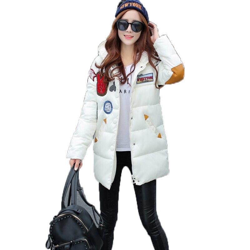 Womens Winter Coats Plus Size Patch Designs Long Down Jacket Women Thick Warm Cotton Padded Coat Parkas For Women Manteau FemmeОдежда и ак�е��уары<br><br><br>Aliexpress