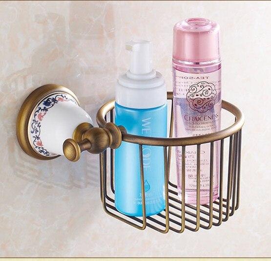 Vintage Creative Ceramic Design Antique Bronze Toilet Paper Holder/Bronze Paper Towel Holder,Roll Holder&amp;Bathroom Storage Basket<br>