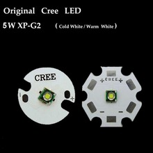 Original CREE White 6500k Warm White 3500k 5W XPG2 R5 LED Flashlight light Bulb Chip With 16mm / 20mm Substrate PCB Board Base