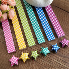34*1.8CM 360PCS Candy Dots lucky Star Paper Origami Star Paper Folded Wishing Quilling Paper Making Stars For Birthday Party