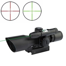 2.5-10x40 Rifle Scope Laser Green Sight Reflex Red & Green Dual illuminated Mil-dot Sight Tactical Compact Laser Riflescope