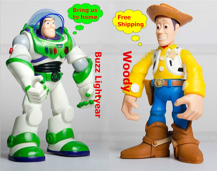 original Toy Story 3 Buzz Lightyear robot light voice elastic wings 30cm action music anime figure kids toys for children p2<br>