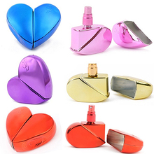 2016 Heart Shape Perfume Bottle Refillable Empty 25ml Travel Mini Atomizer Spray Pump
