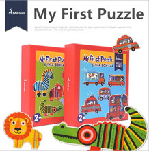 3-4-5-6 pcs 2017 new arrive child puzzle large set of puzzle traffic animal enlightenment puzzle jigsaw puzzle 6-IN-A-BOX LL30
