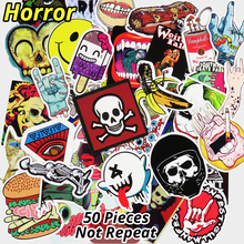 50 PCS Horror Nausea Bloody Stickers for Phone Skateboard Luggage Car Styling DIY Decals Laptop JDM Doodle Decoration Sticker