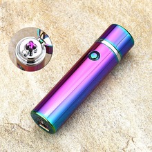 2 Colors Electric Windproof Flameless Lighter USB Dual Arc Cigarette Cigar Rechargeable Stereo Metal Lgnition Lighter(China)