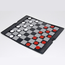 Easy To Carry Board Chess Game Pocket Mini Chess Set Board Magnetic Portable Checkers Set Intellectual games