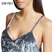 Sibybo Sexy Pearl Bralette Crop Top Women 2017 Summer Golden Short Beach Bustier Crop Tops Cropped Feminino Top Camisole